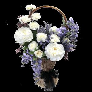 КОРЗИНА с искусственными цветами – Пионами, Глицинией, Лавандой и Гвоздикой 35Х70см