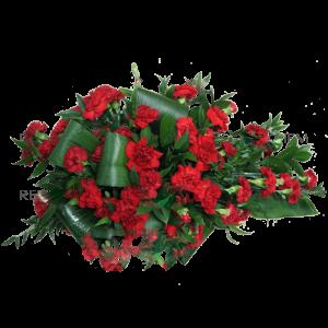 ВЕНОК из искусственных цветов- Красной гвоздики 110х70см
