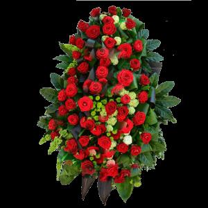 ВЕНОК из искусственнх цветов – Красной розы 90х120см