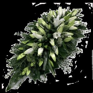 ВЕНОК ИЗ ИСКУССТВЕННЫХ ЦВЕТОВ – Белой лилии (70х110см)