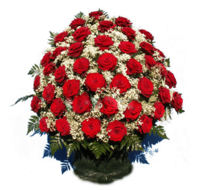 Корзина из живых цветов №2