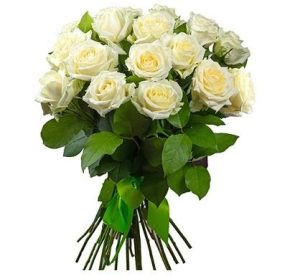 Траурные букеты из живых цветов №5