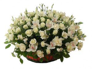 Корзина из живых цветов №14