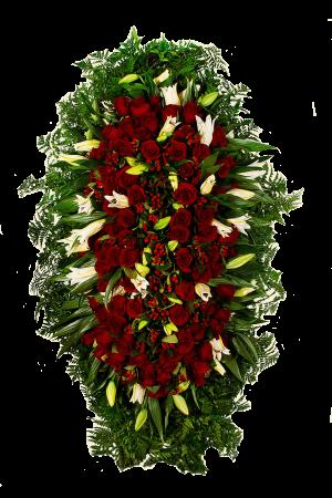 Венок из живых цветов №1