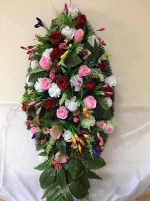 Авторский венок из искусственных цветов №17