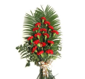 Траурные букеты из живых цветов №2
