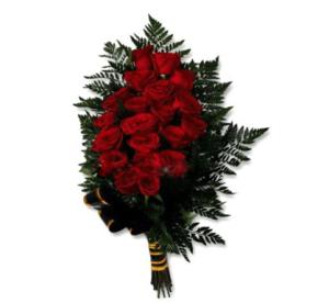 Траурные букеты из живых цветов №3