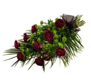 Траурные букеты из живых цветов №4