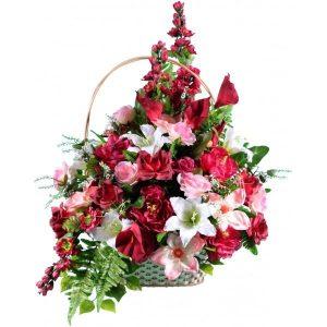 Корзина из искусственных цветов №17