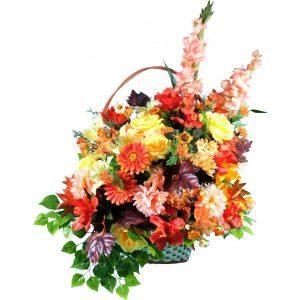 Корзина из искусственных цветов №21