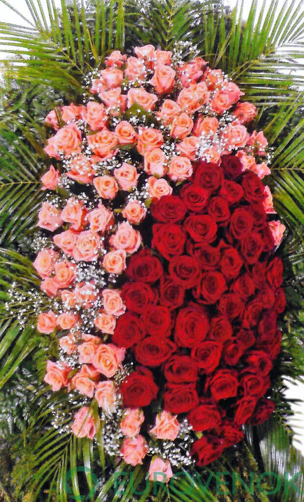 Венок из живых цветов №05-1