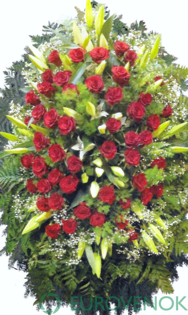 Венок из живых цветов №08-1