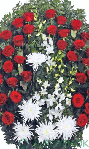 Венок из живых цветов №12 . 100 см