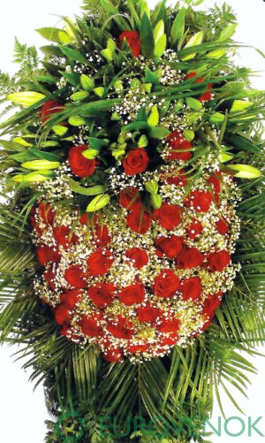 Венок из живых цветов №13 . 100 см .