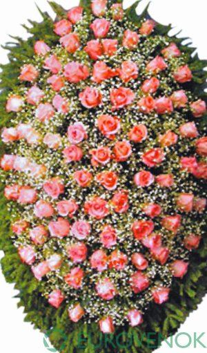 Венок из живых цветов №15 . 100 см.