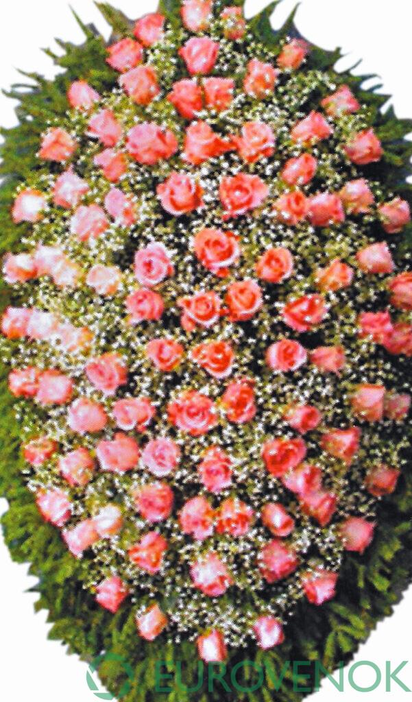 Венок из цветов №15