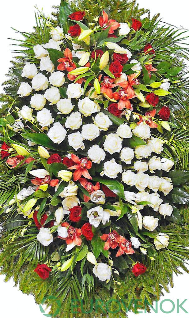 Венок из цветов №17