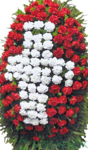 Венок из живых цветов №21 . 100 см .