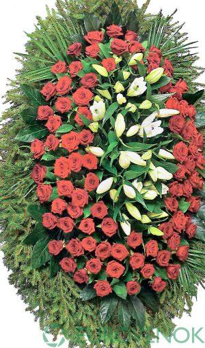 Венок из живых цветов №25 . 100 см .