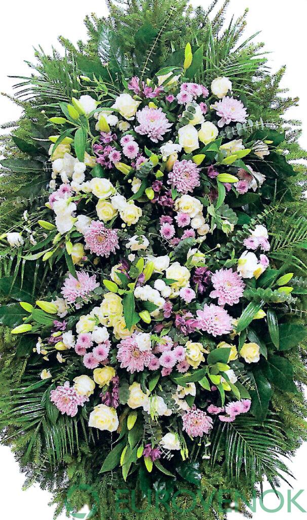 Венок из цветов №33