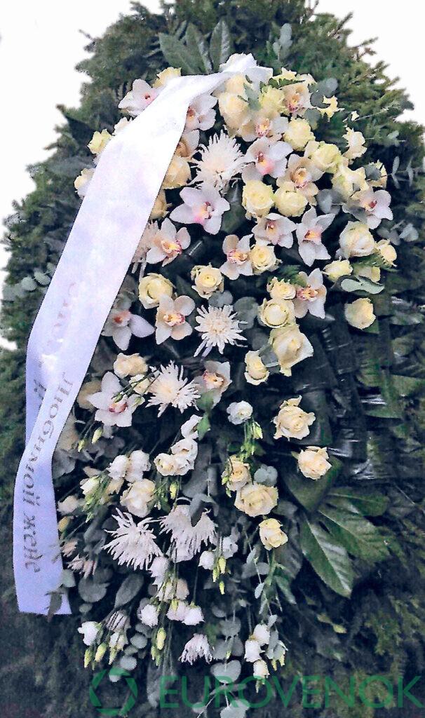 Венок из цветов №34