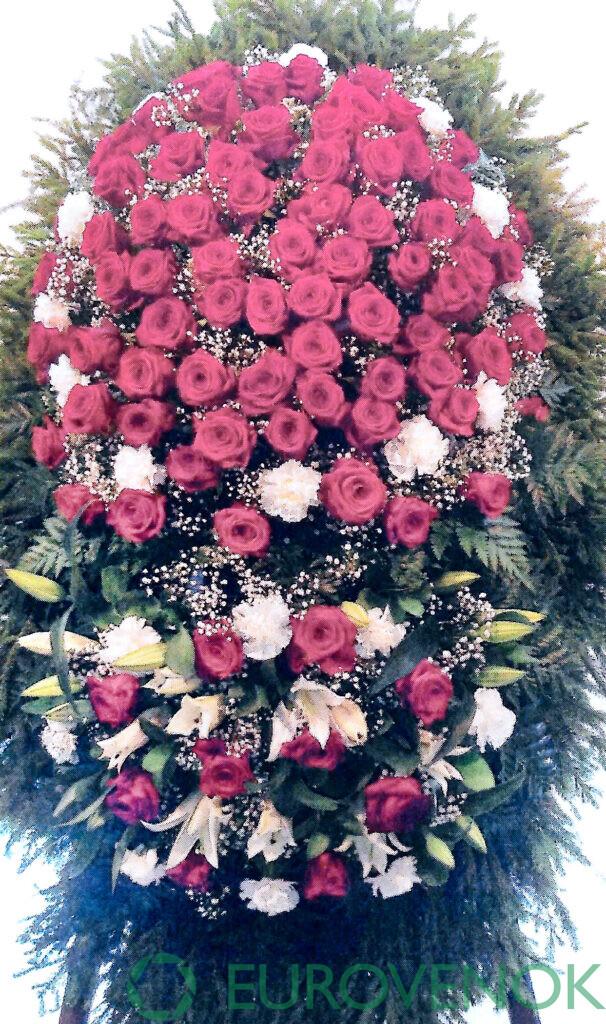 Венок из цветов №36