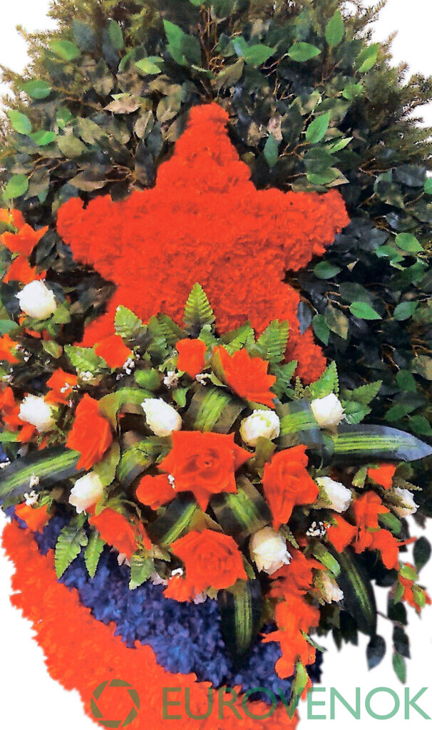Венок из цветов №38
