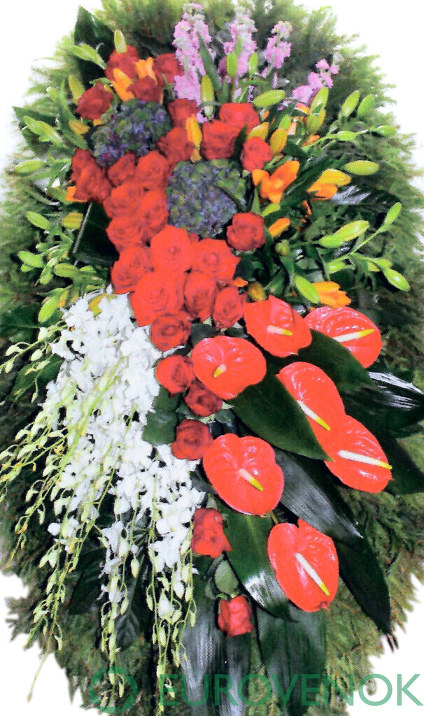 Венок из цветов №41