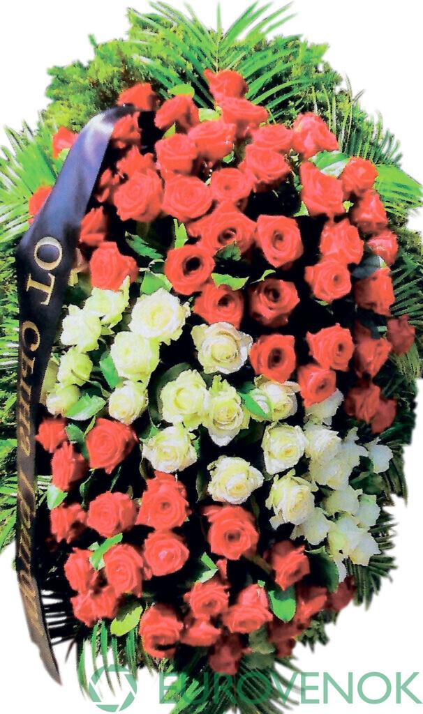 Венок из цветов №42