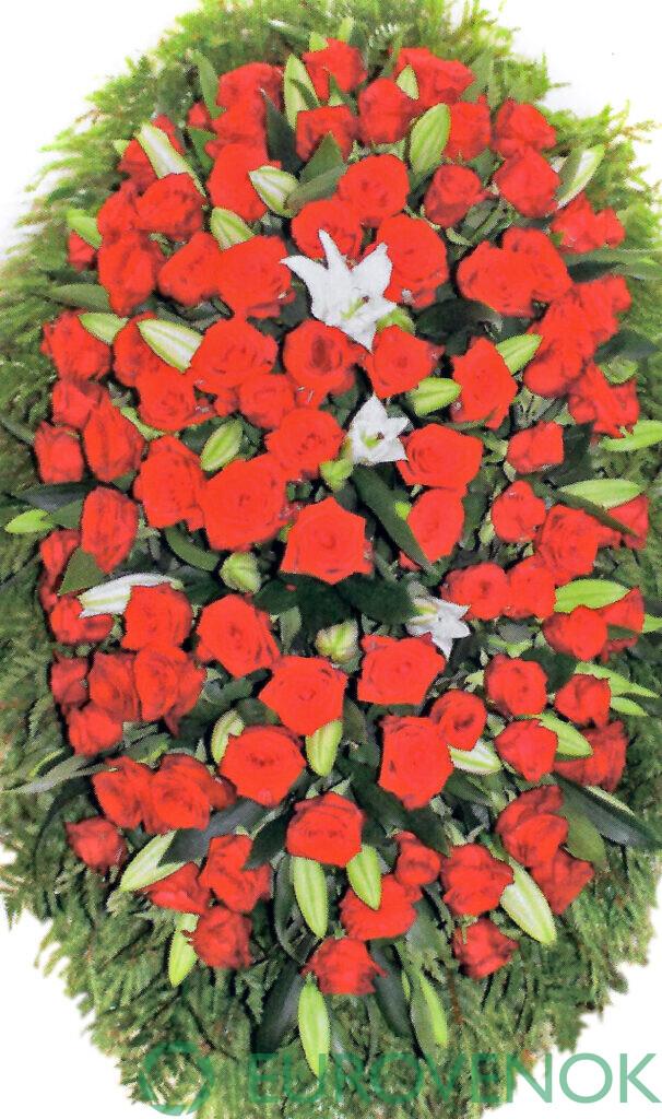 Венок из цветов №47