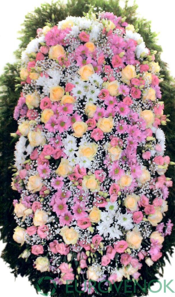 Венок из цветов №48