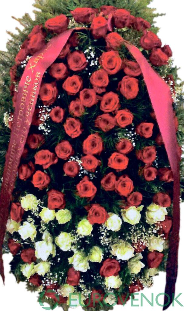 Венок из цветов №54