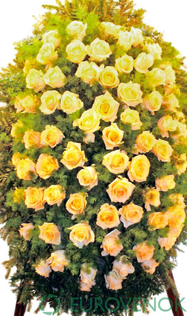 Венок из цветов №55