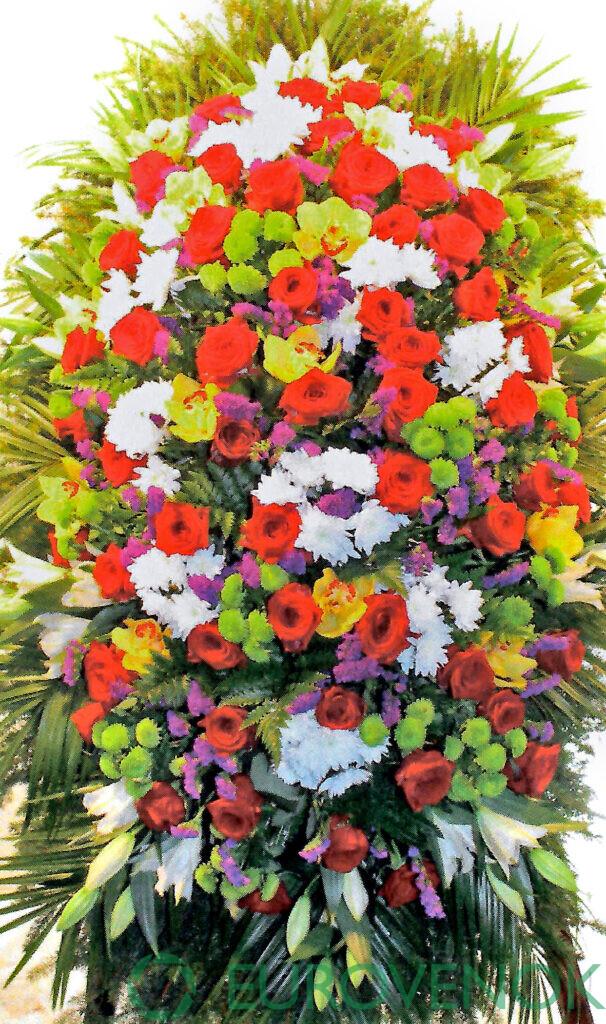 Венок из цветов №57