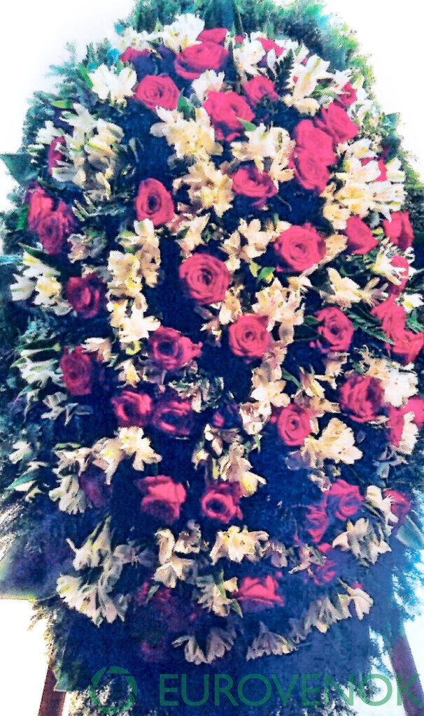 Венок из цветов №58