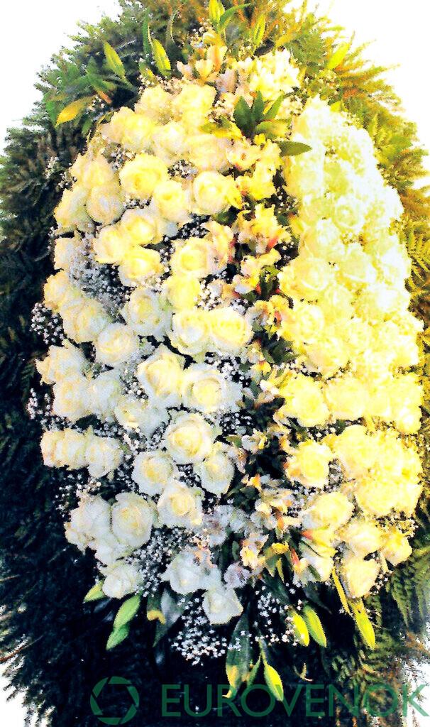 Венок из цветов №64