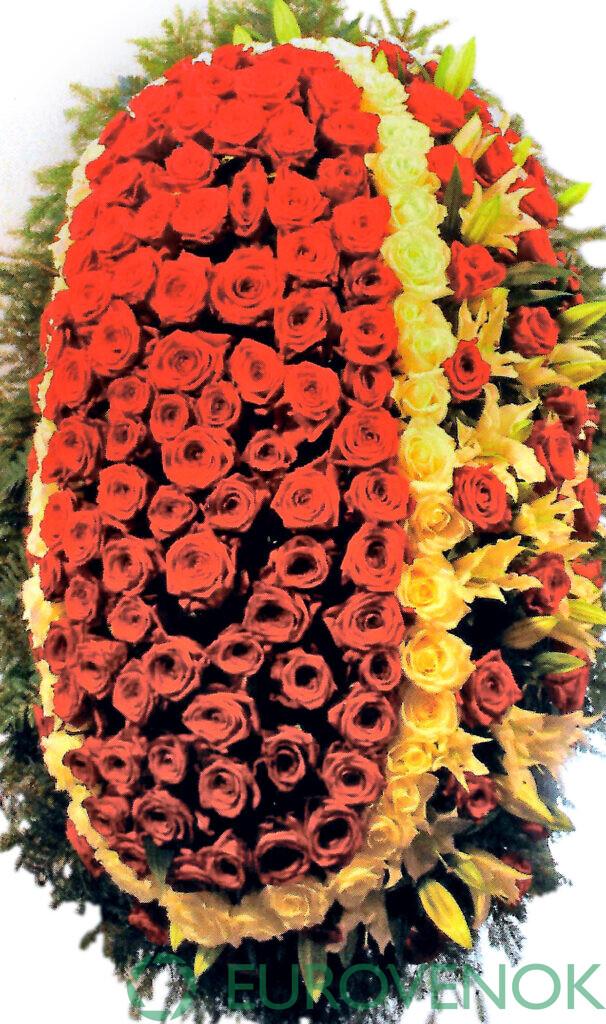 Венок из цветов №65