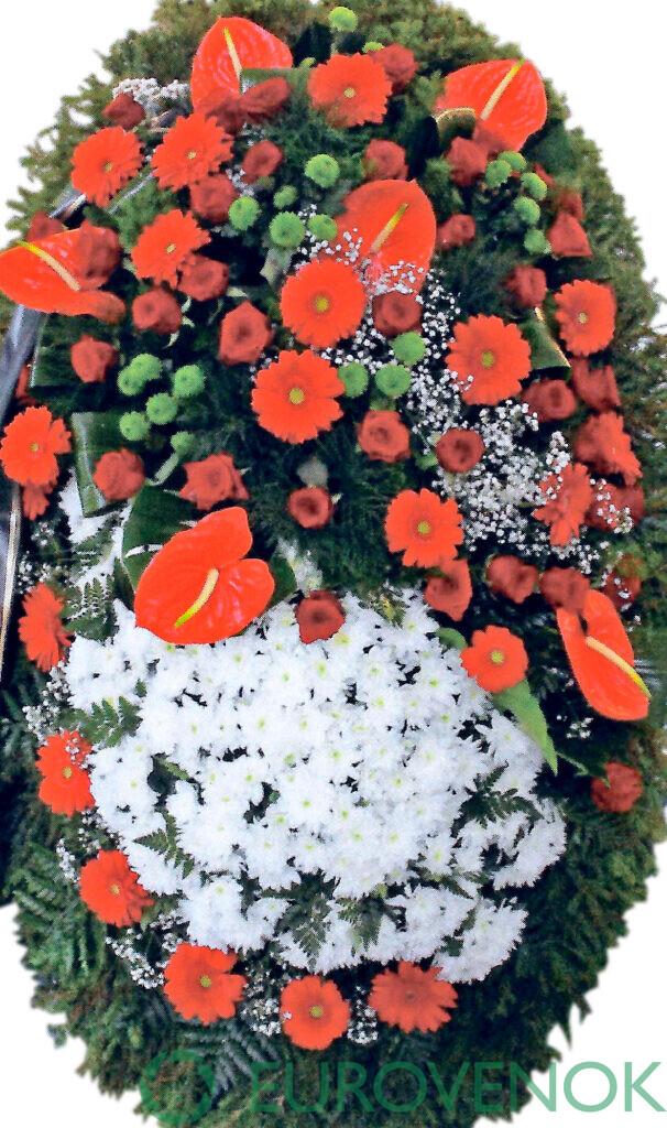 Венок из цветов №67