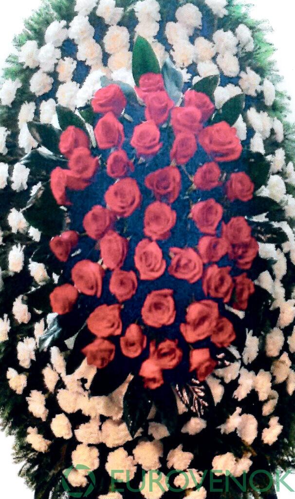 Венок из цветов №70