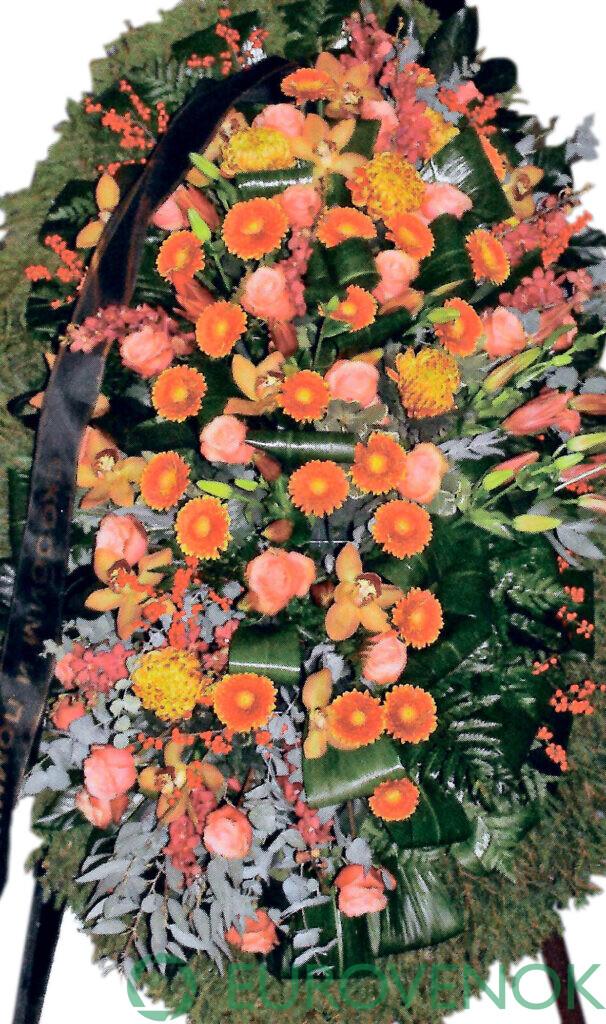 Венок из живых цветов №72
