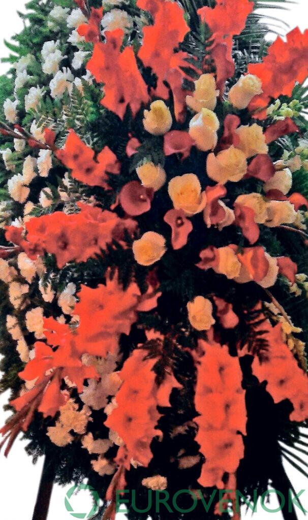 Венок из живых цветов №73