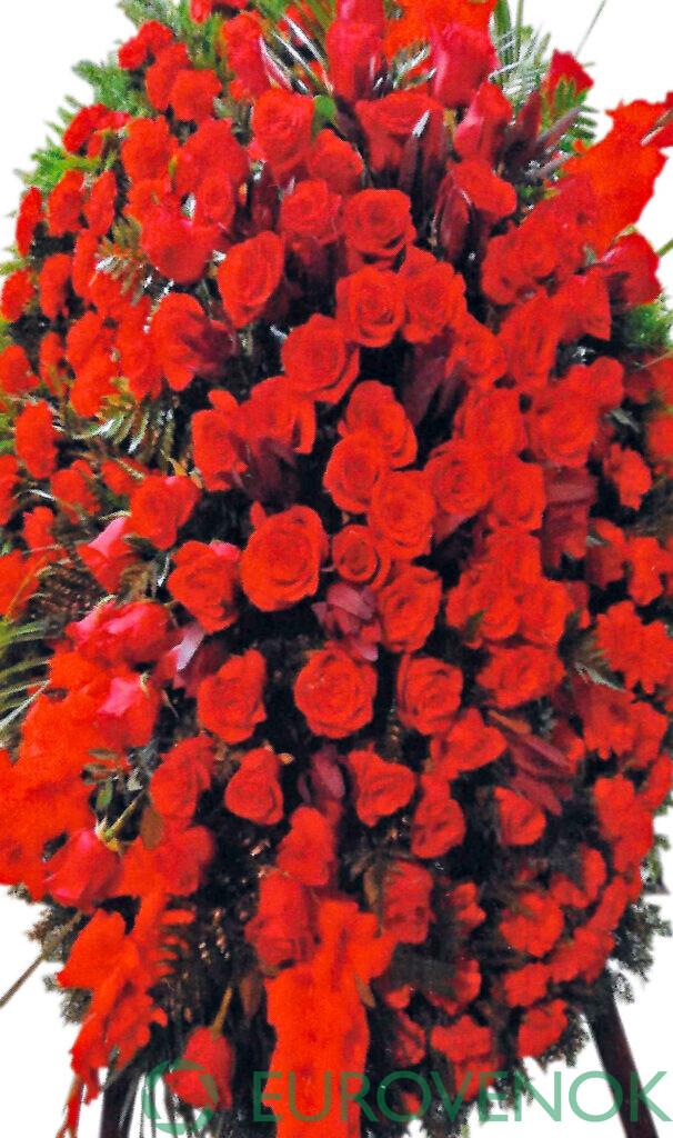 Венок из живых цветов №75