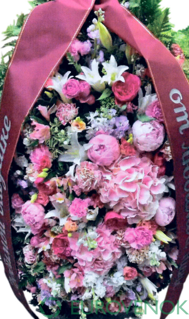 Венок из живых цветов №78