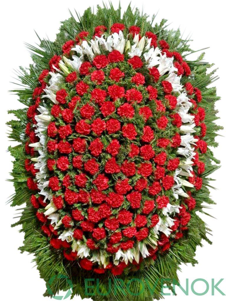 Венок из живых цветов №12-1