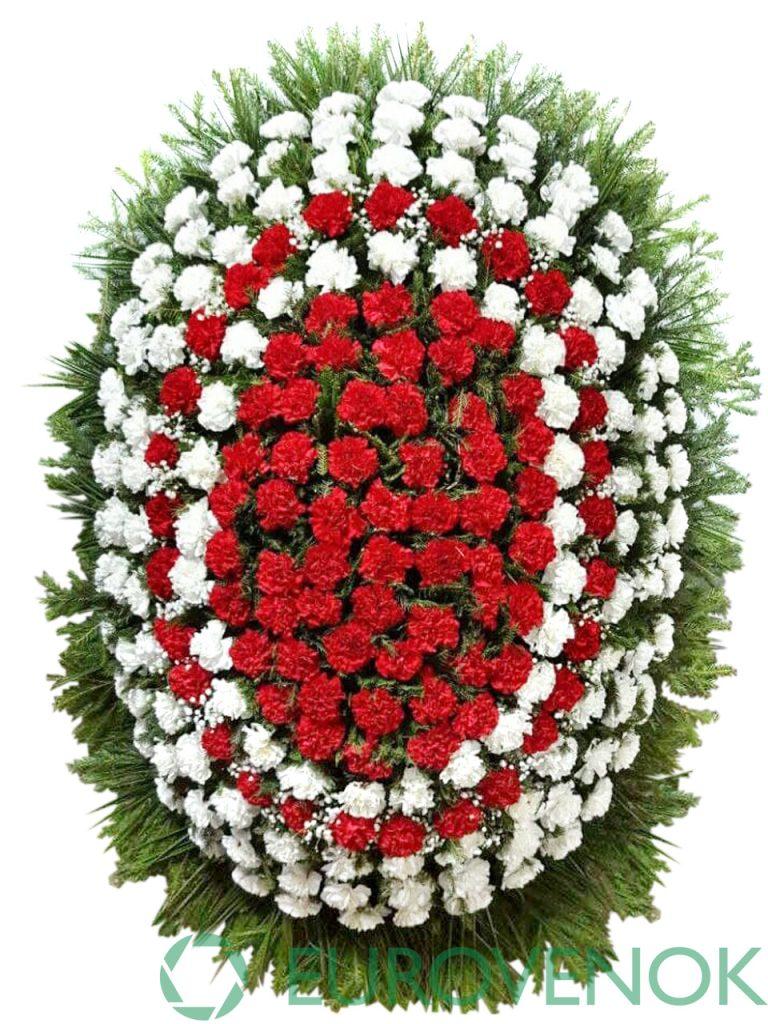 Венок из живых цветов №13-1