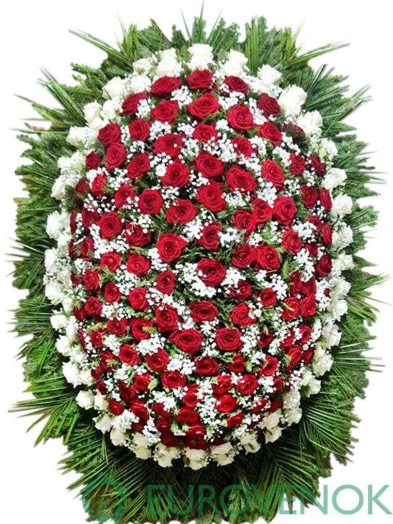 Венок из живых цветов №15-1