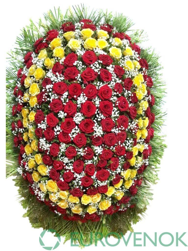 Венок из живых цветов №16-1