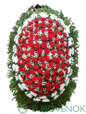 Венок из живых цветов №17-1