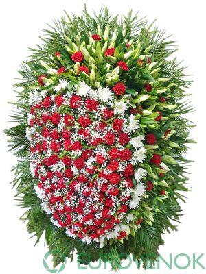 Венок из живых цветов №18-1