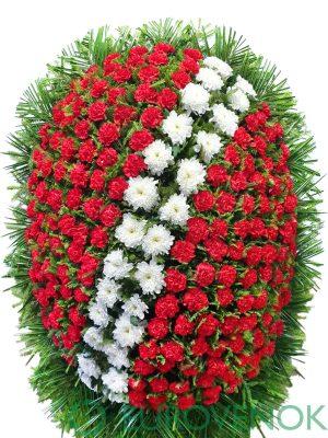 Венок из живых цветов №19-1
